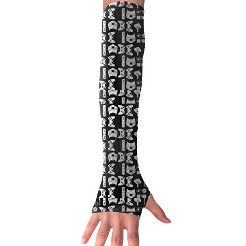 Videojuego Arma Divertido Gamer Negro Largo sin dedos Mangas de brazo Guantes de sol Proteccion Cubierta de la mano