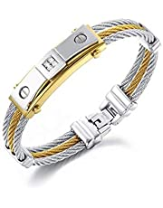 Azora mens Titanium Steel energy magnet bracelet