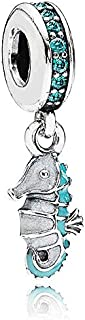 Pandora Women's Sterling Silver Tropical Seahorse Pendant Charm - 791311MCZ