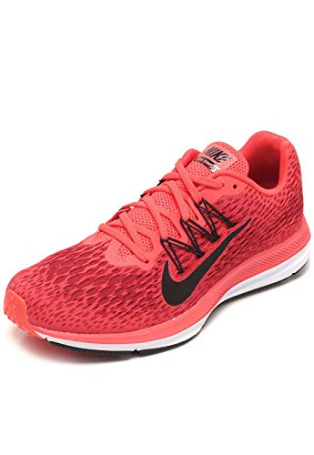 Nike Women's Zoom Winflo 5 Running Shoes (7.5 M US, Bright Crimson/Oil Grey)