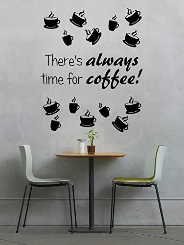 Wandtattoo Time for coffee Kaffee Wandaufkleber