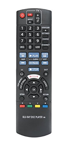 New N2QAYB001024 Replace Remote fit for Panasonic Blu-Ray Disc Player DMP-BD93 DMP-BD903 DMP-BDT271 DMP-BDT280 DMP-BD94