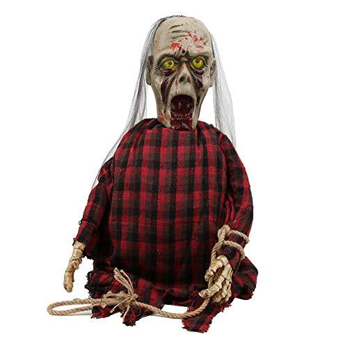 BOLORAMO Accesorios para Colgar Fantasmas, Pared de Escalada, mueca de Miedo, Tela Oxford, Decoraciones de Halloween, decoracin de Fiesta al Aire Libre de Terror, para Decoraciones navideas(Rojo)