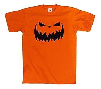 Halloween Jack O Lantern Orange Tee for Men, S to XXL