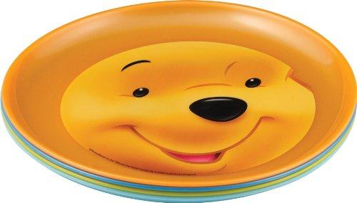 Winnie Puuh 734179 - Winnie 4 bunte Plastikteller 20 x 2 cm
