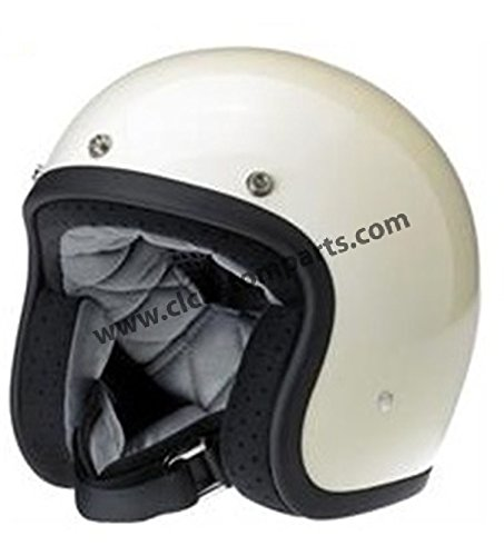 Motorcycle Storehouse Casco Jet Biltwell BONANZA Bianco Lucido Taglia M