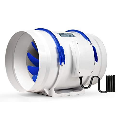 Hon&Guan 200mm Rohrventilator Rohrlüfter für Badezimmer, Gewächshäuser, Hydroponik (ø200mm Rohrventilator)