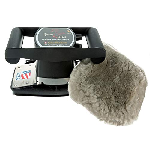 Core Products Jeanie Rub Variable Speed Massager, Deep Tissue Massage, Orbital Action for Back & Body, Professional Quality - Sheepskin Cover Combo