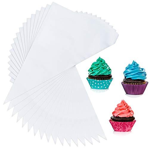Girls\'love talk 100 Stück Zuckerguss Spritzbeutel Einweg Spritzbeutel Disposable Pastry Bag Pastry Piping Bags zum Dekorieren von Gebäck oder Torten geeignet