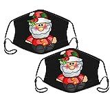 Feliz Navidad juguete 2-Pack lavable reutilizable para mujeres hombre ajustable gancho de oreja máscara linda con 2 filtros