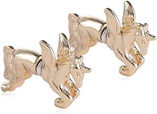 AOBILE(TM) 1 pair New Ear Cuff Single Stud Earring Punk Rock Metal 3D Unicorn Pegasus Horse