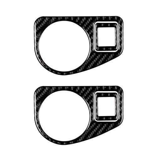 SHOUNAO 2 Unids/Set del Interruptor del Interruptor De La Luz Deliciumparo del Automóvil Izquierdo del Marco Pegatinas Adecuados para Volkswagen Golf 7 (Color Name : Black)