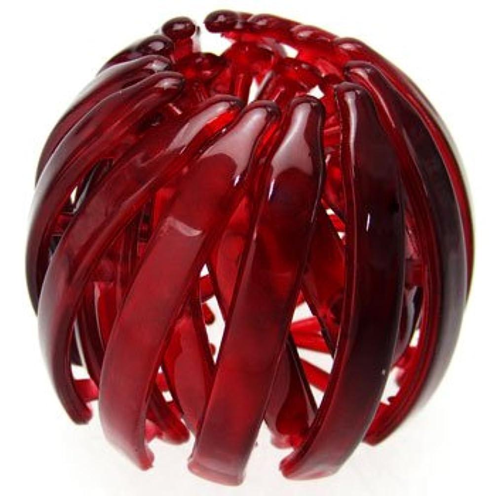 フィヨルド石化する風刺harlm002nnwin ヘアアクセサリー 髪飾り (リトルムーン) ヘアリング マルチクリップ(スクリューボール) ワインレッド