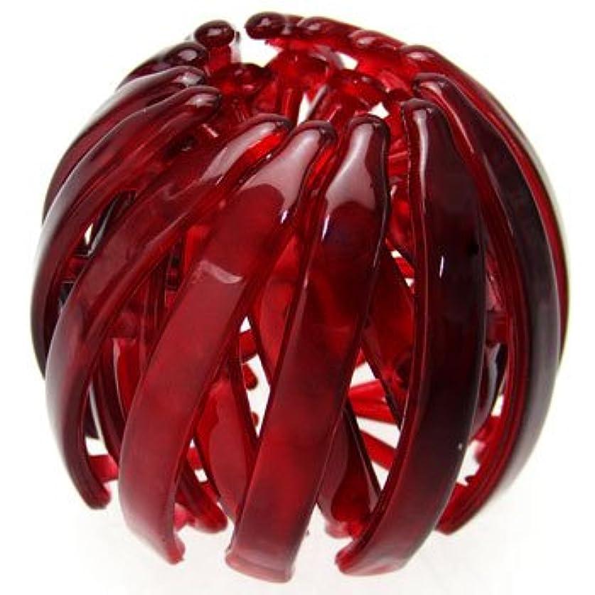 吸い込むみすぼらしいポータブルharlm002nnwin ヘアアクセサリー 髪飾り (リトルムーン) ヘアリング マルチクリップ(スクリューボール) ワインレッド