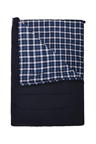 Mountain Warehouse 1/2 Season Sleeping Bags Two Way Zip Comfort Temperature Comfort Temperature: 9°C to 13°C Extreme Rating:-2°C Blu Taglia Unica
