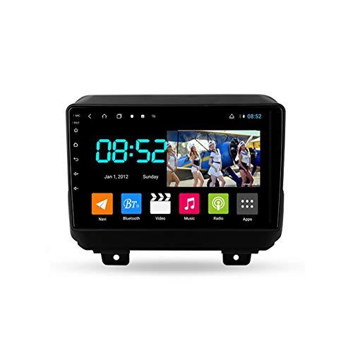 Foof Autoradio Coche Bluetooth 2 DIN Android Radio De Coche 9'' Pantalla Táctil WiFi Plug and Play Completo RCA SWC Soporte Carautoplay/GPS/Dab+/OBDII para Jeep Wrangler 4 JL,Octa Core,4G WiFi 4G+64G