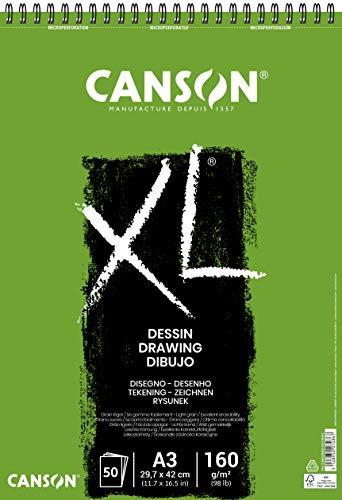 CANSON XL® Dessin Zeichenblock, DIN A3, 50 Blatt, 160 g/m²