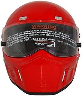 CRG Sports ATV Motocross Motorcycle Scooter Full-Face Fiberglass Helmet DOT Certified ATV-1 - Parent (Large, Red)