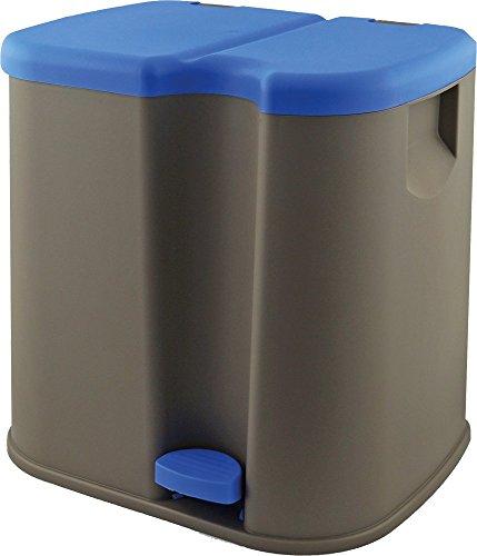 Gies Haushaltsware, Plastik, Taupe/blau, 41 x 33.5 x 40 cm