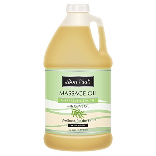 Bon Vital#039  BVTTOHG Therapeutic Touch Massage Oil Made with Olive Oil to Repair Dry Skin amp Soothe Sore Muscles Lightweight Oil Perfect for Any Massage to Hydrate and Nourish Dry Rough Skin 1/2 Gallon Bottle