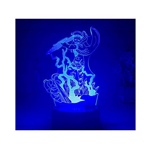 TIDRT Animación 3D Ilusión Lámpara Led Luz De Noche Iluminación del Hogar Decoración Creativa Niño Niña Fiesta Regalo De Cumpleaños Lámpara De Mesa