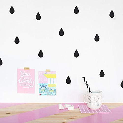 TYOLOMZ 35 unids/set gotas de lluvia confeti pegatinas de pared guardería infantil hogar moda pared arte calcomanías vinilo extraíble DIY mural papel pintado