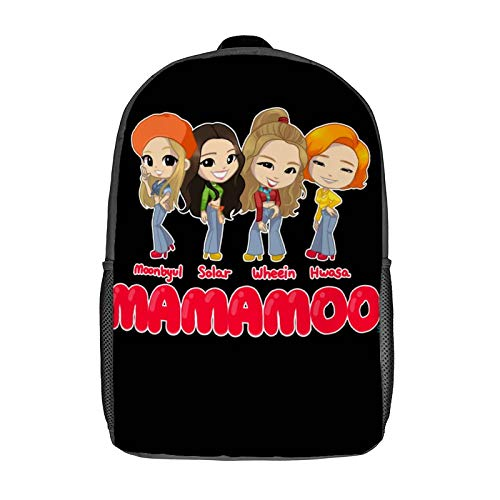 MAMAMOO - You're The Best 3D Anime School Bag with mesh pocket Unisex Fashion Black rucksack Travel Laptop Backpack 17 inch