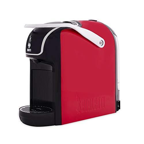 Bialetti Break - Macchina Caffè Espresso a Capsule in Alluminio con sistema Bialetti il Caffè d'Italia, Design compatto, Rosso