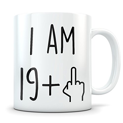 Funny 20th Birthday Gift for Women and Men - Turning 20 Years Old Happy Bday Coffee Mug - Gag Party Cup Idea as a Joke Celebration - Best Twenty Adult Birthday Presents