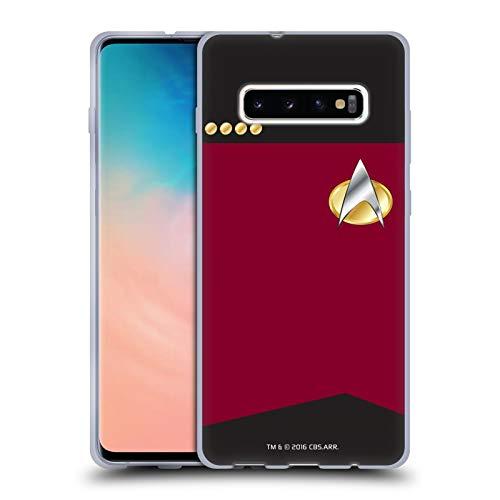 Head Case Designs sous Licence Officielle Star Trek Capitaine Uniformes Et Badges TNG Coque en Gel Doux Compatible avec Samsung Galaxy S10+ / S10 Plus