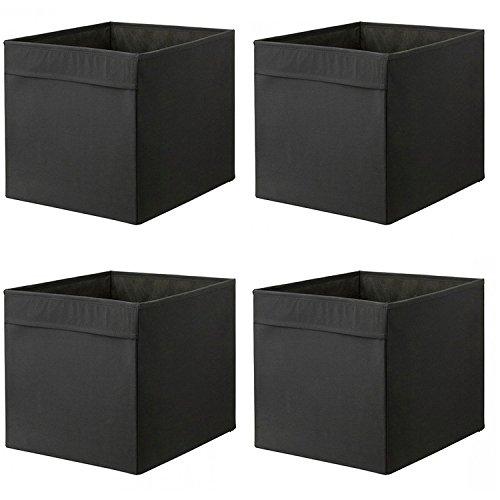 IKEA DRONA - Caja de almacenaje (33 x 38 x 33 cm), color negro