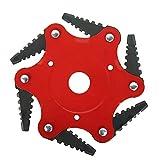 You's Auto Tagliaerba Universale a 6 Denti per Giardino Trimmer Head Razors 65Mn Attrezzo per Diametro del Buco 25mm Solo Disco per Decespugliatore