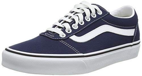 Vans Herren Ward Sneakers, Blau (Canvas) Dress Blues/White Jy3, 48 EU
