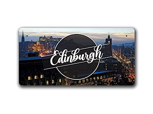 McMug Edinburgh Night Landscape - Scotland - Metal Sign