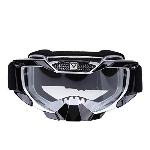 Gafas de Ciclismo Gafas de la Motocicleta MX Off Off DERIGHT GRABLES Motorbike EPORTE OUTALIR Cafe Cape CASCULAR Motocross Moto SKI Gafas Gafas Gafas Gafas de Ciclismo Hombre (Color : White)