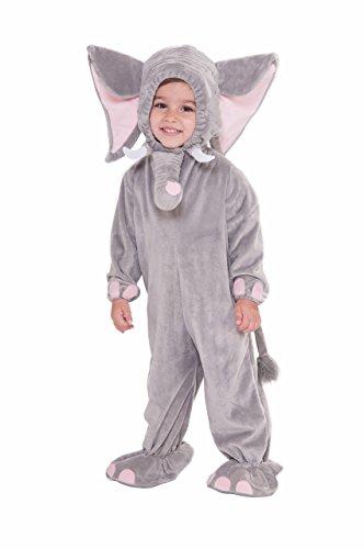 Forum Novelties Baby Boy's Plush Cuddlee Elephant Costume, Multi, Toddler