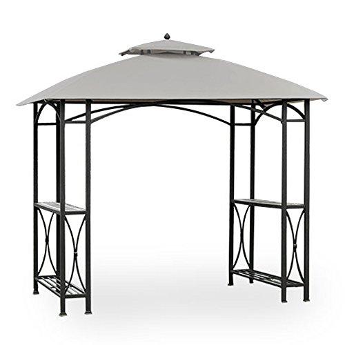 Garden Winds Replacement Canopy for Sheridan Grill Gazebo - Riplock 350 - Slate Gray