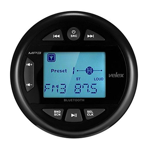 Velex Reproductor multimedia resistente al agua, receptor, con transmisión de audio, pantalla positiva de 2,4 pulgadas