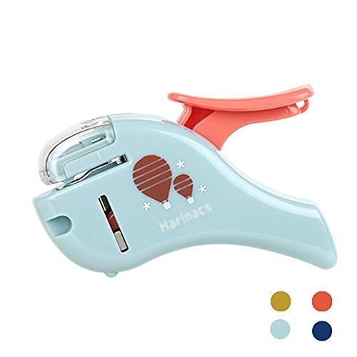 nietmachine, stapleless nietmachine, luchtdruk nietmachine, 5 vellen capaciteit, onbeperkt creatief design, geschikt voor gebruik door kinderen - blauw ++ blauw