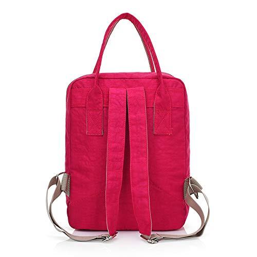 AINOT Mittelschüler Tasche lässig wasserdicht Rucksack Oxford Tasche weiblichen koreanischen Studenten Rucksack Rose rot