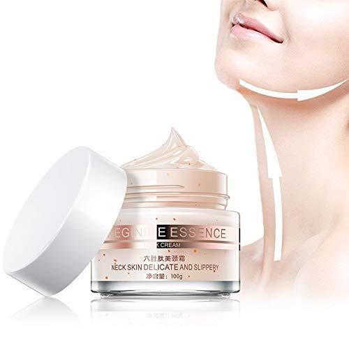 Sonew Crema para el Cuello flacidez y contracción Arrugas antienvejecimiento Lifting del Cuello Reafirmante Esencia de Gel para el Cuidado de la Piel