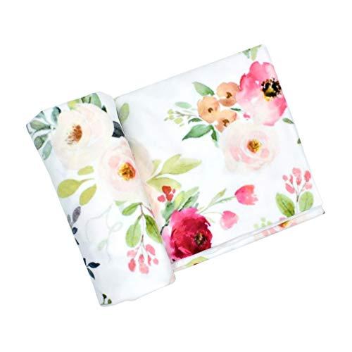 Dabixx  Swaddle-Decke, Baby Girl Boy Kleidung Bettwäsche Zubehör Schlafsack Musselin Swaddle Blanket Floral Print Neugeborenen Requisiten - 4#