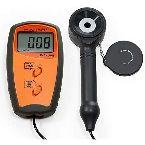 UV détecteur de rayonnement, UV Illuminance UV Meter testeur UVA et UVB mètre d'intensité,Orange