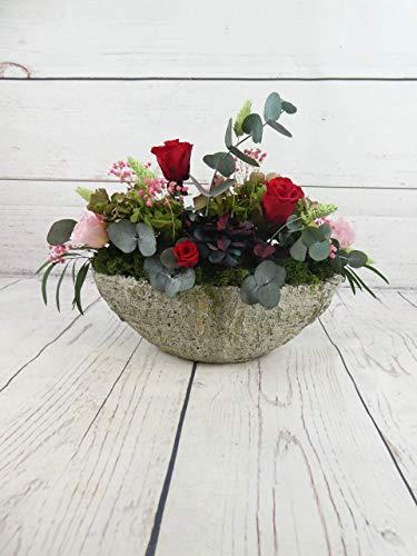 Barco Piedra Con Flores Preservadas - Flores de Jacqueline Valencia