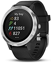 Garmin 010-01769-01 Vivoactive 3, GPS Smartwatch with Contactless Payments and Built-In Sports Apps, Black with Silver Hardware