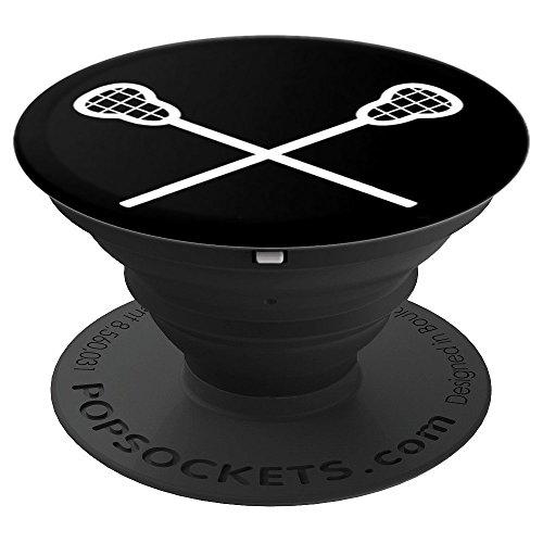 Lacrosse Player Sticks - Black and White