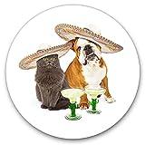 Pegatinas de vinilo impresionantes (juego de 2) 30 cm – Divertidas bebidas mexicanas para perros y gatos para ordenadores portátiles, tabletas, equipaje, chatarra, neveras, regalo fresco #3463