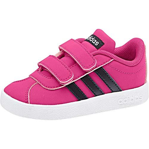 adidas VL Court 2.0 CMF I, Zapatillas de Estar por casa Bebé Unisex, Multicolor (Magrea/Tinley/Ftwbla 0), 18 EU