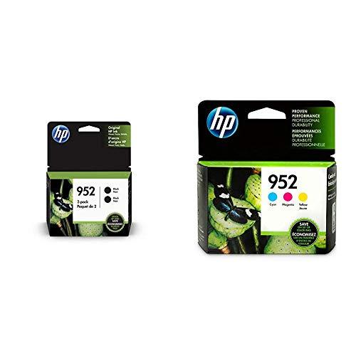 HP 952 Black, Cyan, Magenta, Yellow Ink Cartridges (L0S49AN, L0S52AN, L0S55A, 3YP21AN) 5 Cartridge Bundle