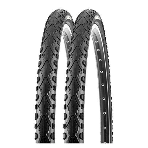 P4B | 2X 26 Zoll Fahrradreifen in Schwarz (50-559) | 26 x 1.95 | Mit K-Shield Pannenschutz für langanhaltenden Fahrspaß und weniger Reifenschäden